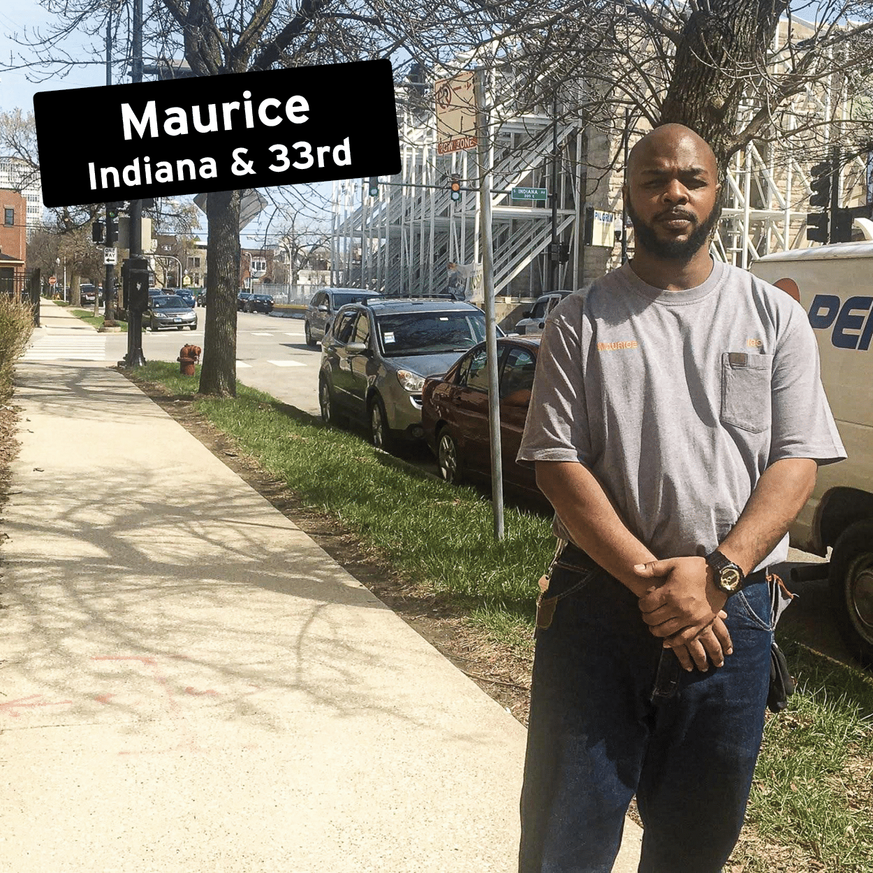 Maurice at the corner of Indiana & 33rd