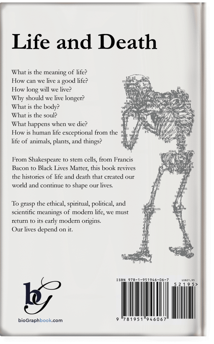 Early Modern Matters of Life and Death (Back Cover) Aaron Greenberg, PhD