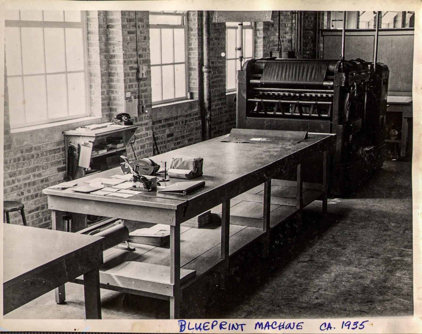Cushing Blueprint Machine 1935