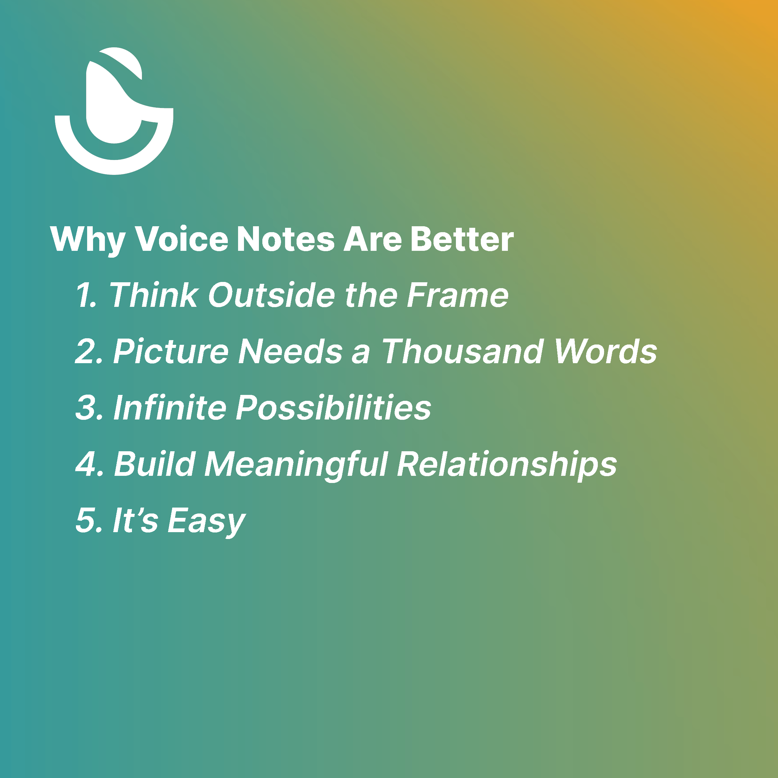 Why Voice Notes Are Better
