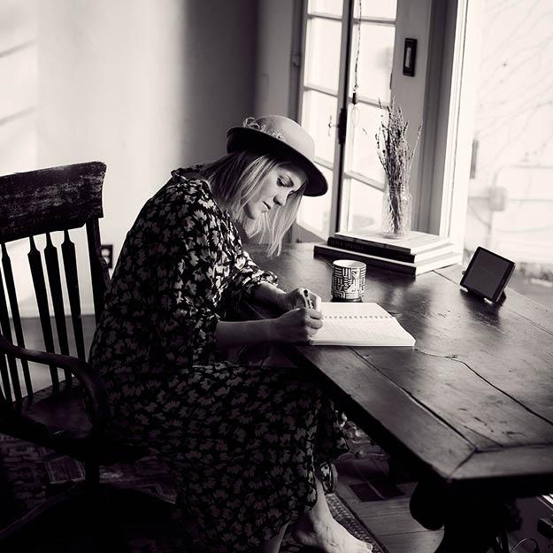Life writer taking notes