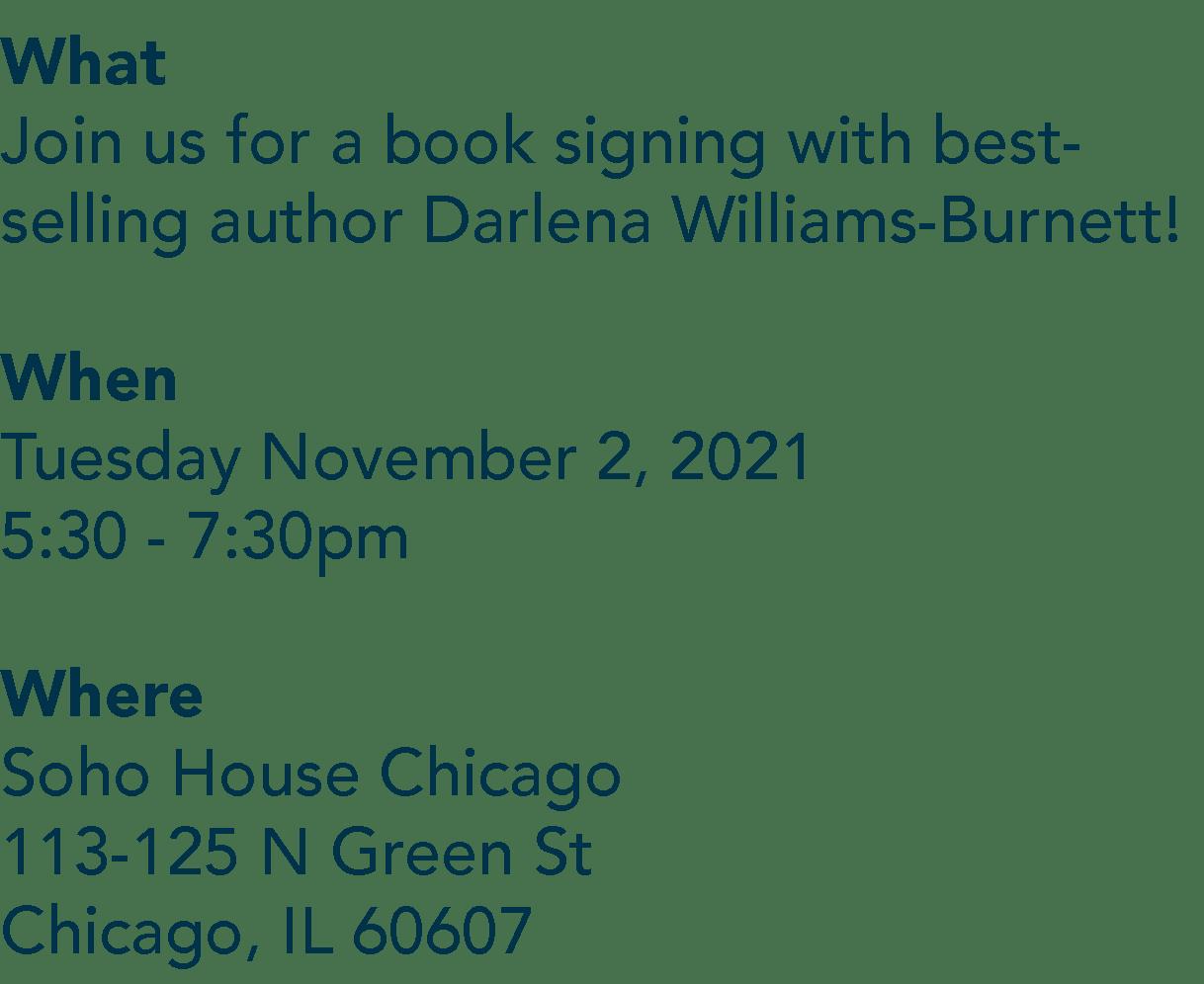 Darlena Soho Book Signing Details